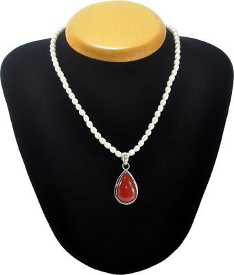 Cosmic 7 Jewellery Pearl, Onyx Silk Dori Necklace