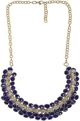 New Creation Crystal Brass Necklace