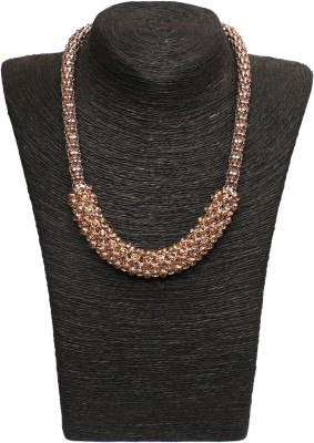 Outdazzle Designer Gold Plated Beads Metal Necklace