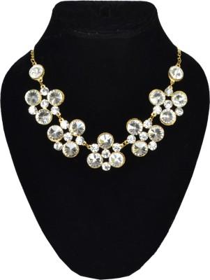 Minha Crystal Brass Plated Brass, Crystal Necklace