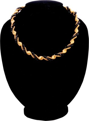 Harini Crystal Yellow Gold Plated Alloy Necklace