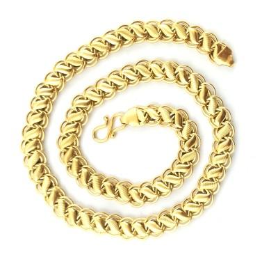 Italian Fashion vintage love 22K Yellow Gold Plated Brass Chain