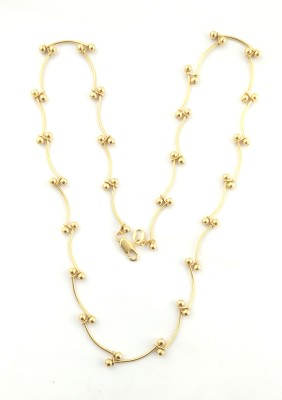 Italian Jewellery love forever chain 22K Yellow Gold Plated Brass Chain