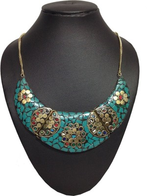 Shiv Kutumb Metal, Stone Necklace
