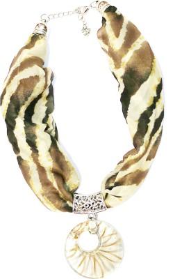 Jiya Fashion Pretties Fabric, Metal Necklace