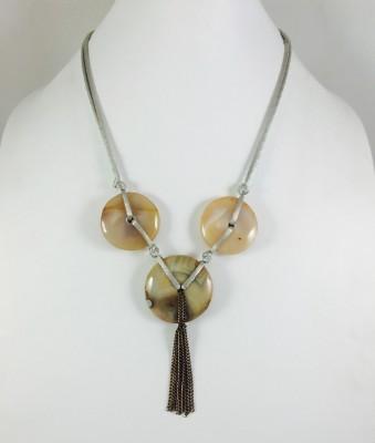 Bijoux 1940 Agate Stone Necklace
