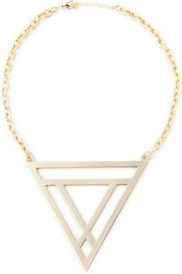 Zahra Jani ZJ Large Triangle Necklace Metal Chain