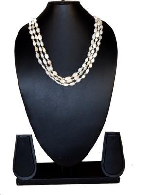Needle Kraft Pearl Stone Necklace
