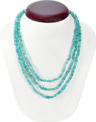 Cosmic 7 Jewellery Apatite Three Lined Neckpiece Silk Dori Necklace
