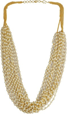 Muchmore Pearl 18K Yellow Gold Plated Alloy Necklace at flipkart