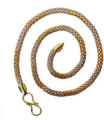 Royal Touch 23K Yellow Gold Plated Brass Chain