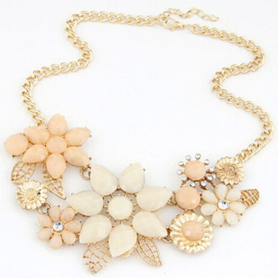 "SENECIOâ""¢ Fashionable Flower Romantic Rhinestone Chokers Best Gift Alloy Necklace"