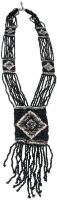 Joyeria Milan Tribal Beaded Resin Necklace