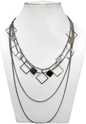 trendeela.com Twiny Twine Black Silver Plated Alloy Necklace at flipkart