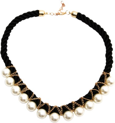 Itzmyfashion Pearl rope Alloy Necklace