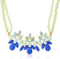 AMNOR Double Layer Beads Acrylic, Alloy Necklace