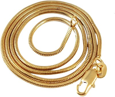Ammvi Classic Plain for Men Brass Chain