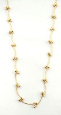 Italian Fashion italian Romanace 22K Yellow Gold Plated Brass Chain