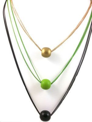 Ammvi Ammvi Creations Trendy Triads Long Chain For Women Alloy Necklace