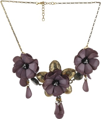 Eastern Roots Floral Metal, Shell Necklace