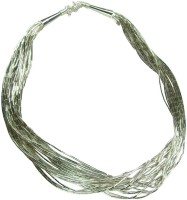 Collana multi layer 925 STERLING SILVER women designer chain cum chokar necklace Sterling Silver Necklace