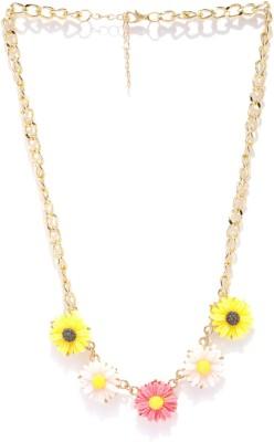 Kook N Keech Crystal Enamel Plated Metal Necklace at flipkart