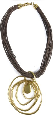 Harp Vertigo Gold Metal Necklace