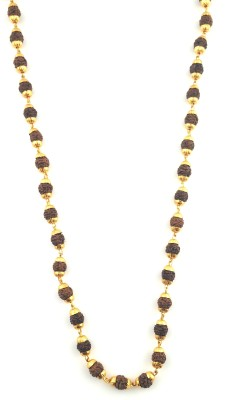 JH jewellery golden thread rudraksh 21K Yellow Gold Plated Brass Chain at flipkart
