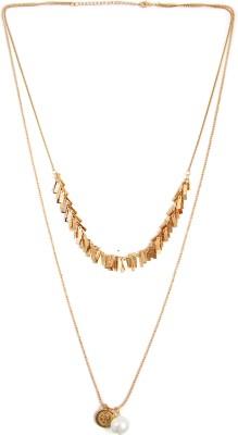 Zahra Jani ZJ Pearl Tassel Necklace Metal Chain