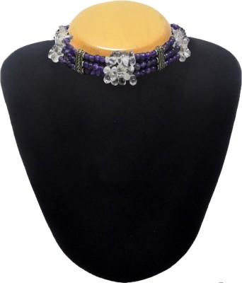 Cosmic 7 Jewellery Amethyst, Onyx Silk Dori Choker