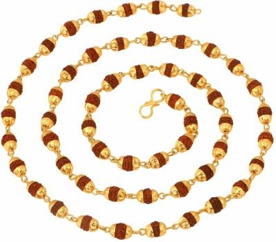 The Jewel Box Rudraksh Mala 27.5 inch Yellow Yellow Gold Plated Alloy Chain at flipkart
