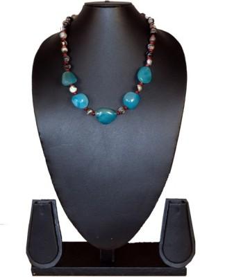 Needle Kraft Turquoise, Cat,s Eye, Beads Stone Necklace
