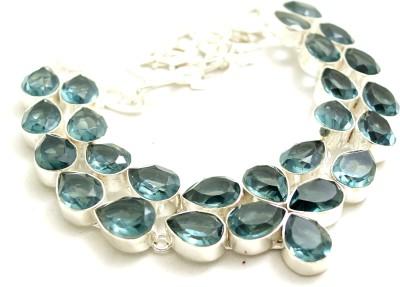 Prakash jewellers Quartz Silver Plated Metal Necklace