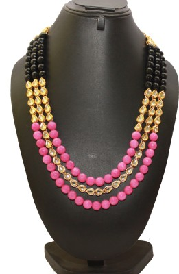 RBS Onyx Yellow Gold Plated Metal Necklace at flipkart