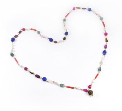 Cosmic 7 Jewellery Navaratna Mala Quartz Silk Dori Necklace
