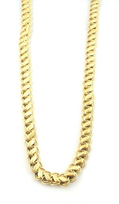 JH jewellery love bright 22K Yellow Gold Plated Brass Chain