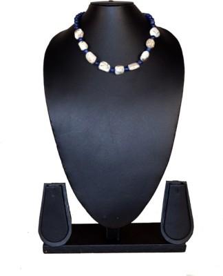 Needle Kraft Lapis Lazuli, Agate Stone Necklace