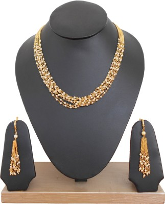 Riddhi Fashion Pearl Copper Necklace Set