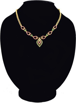 Harini 18K Yellow Gold Plated Alloy, Copper Necklace