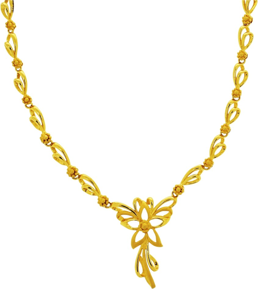 Kalyan Jewellers Moulding Flower Gold Necklace in Jalandhar ...