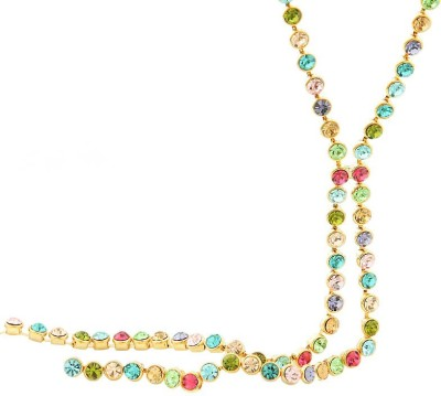 Yellow Chimes Chain Knot Alloy Necklace