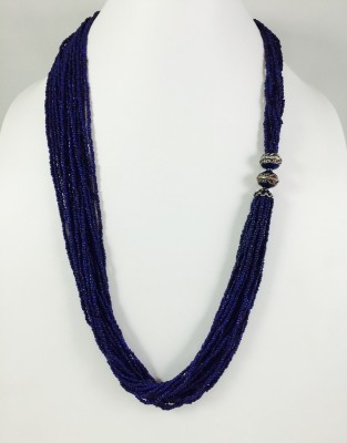 Bijoux 1940 Sterling Silver Plated Glass Necklace