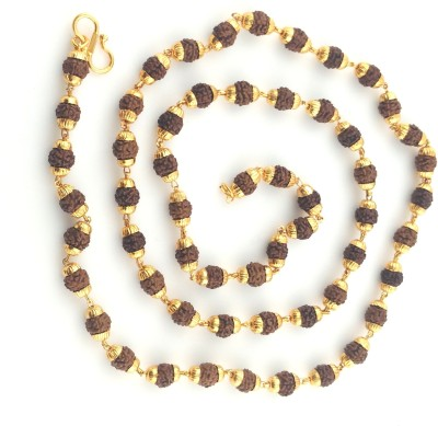 Italian Jewellery rudraksh mala 21K Yellow Gold Plated Brass Chain at flipkart