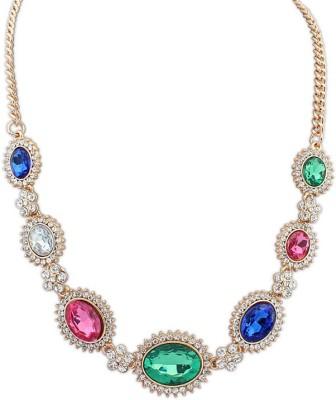 Aaishwarya Glim Glam Crystal Crystal Alloy Necklace