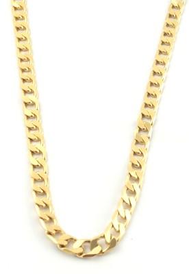 Italian Jewellery butterly cuban 22K Yellow Gold Plated Brass Chain