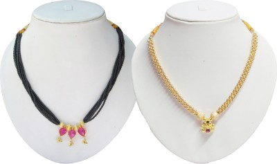 Swapnagandha Jewellery Yellow Gold Plated Copper Choker