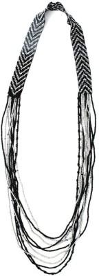 Joyeria Milan Directional Beaded Resin Necklace