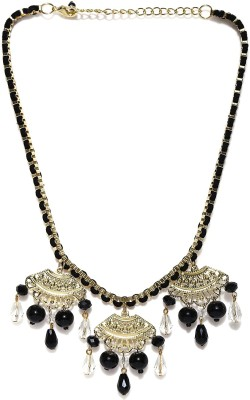 Anouk Crystal Enamel Plated Metal Necklace at flipkart