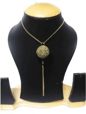 Craft Banaras Golden Globe Neckless Craft Banaras Metal Necklace