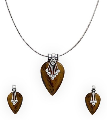 Jaipur Mart Paan Shape Silver Plated Alloy Necklace